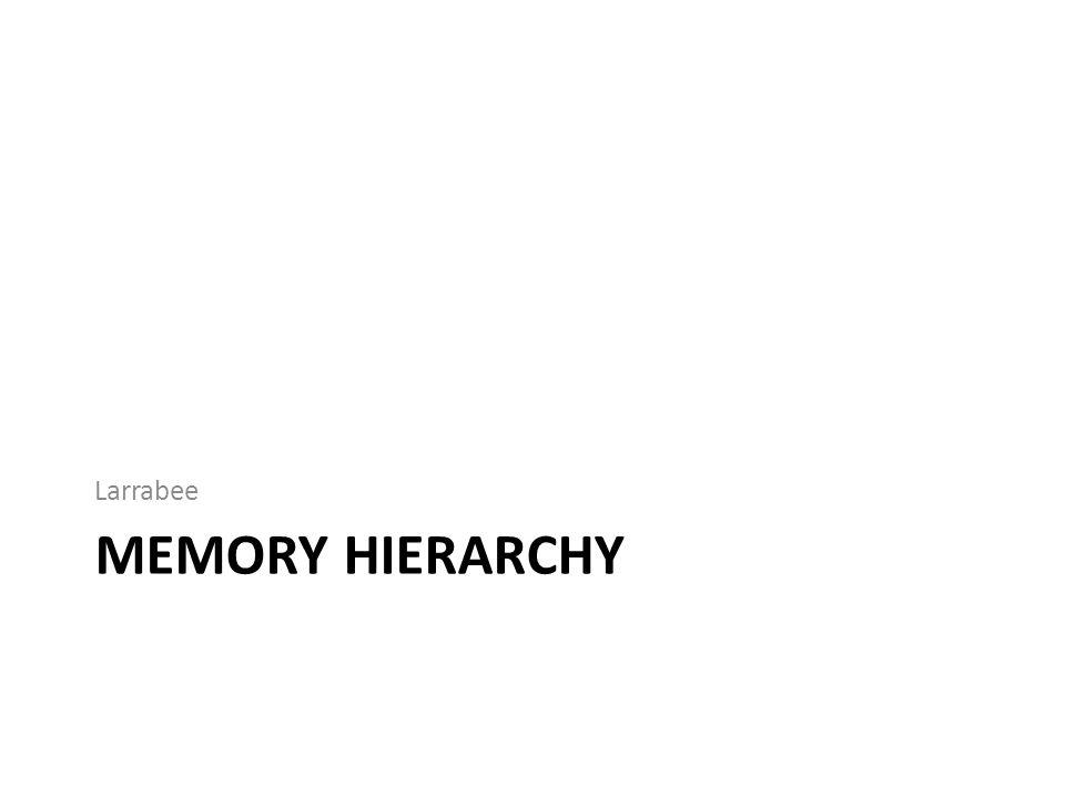 MEMORY HIERARCHY Larrabee