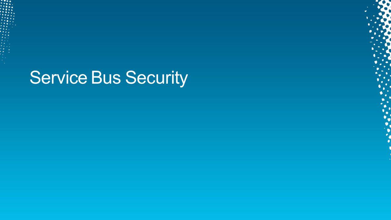 Service Bus Security