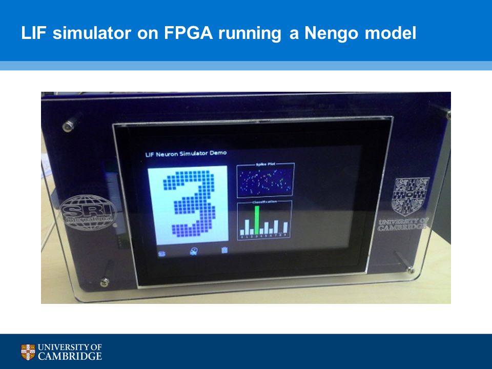 LIF simulator on FPGA running a Nengo model