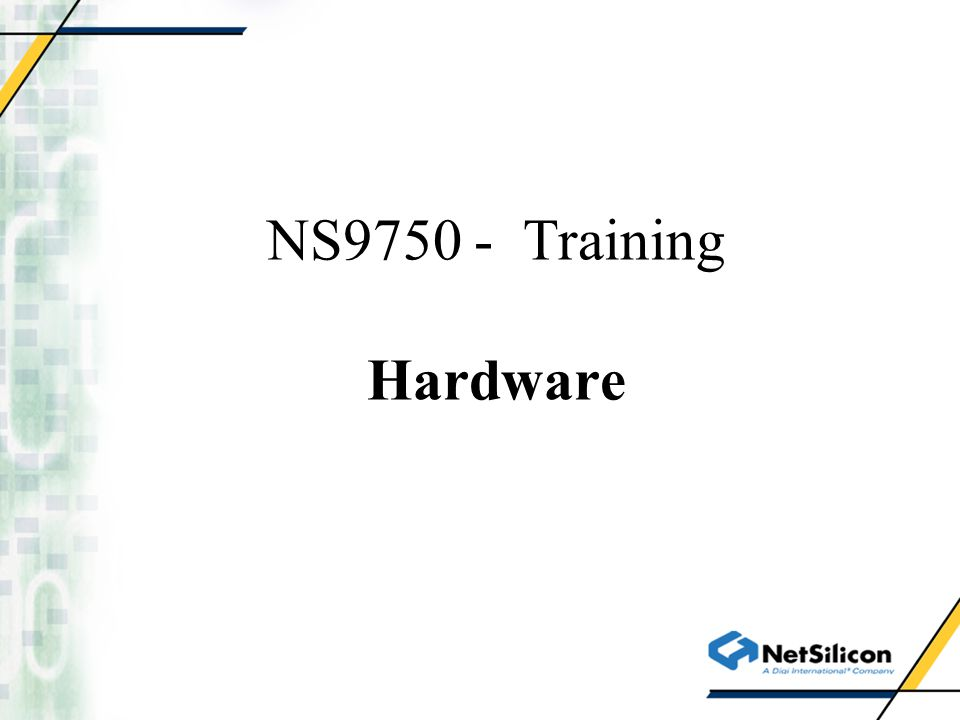 NS9750 System Overview