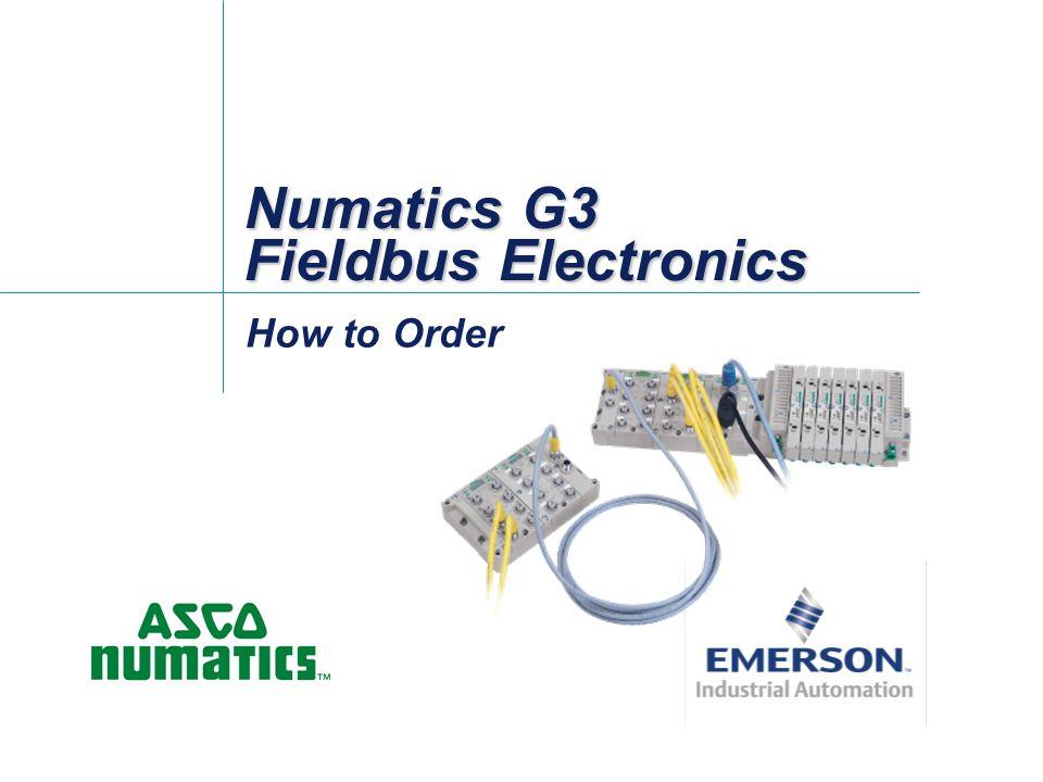 Numatics G3 Fieldbus Electronics How to Order