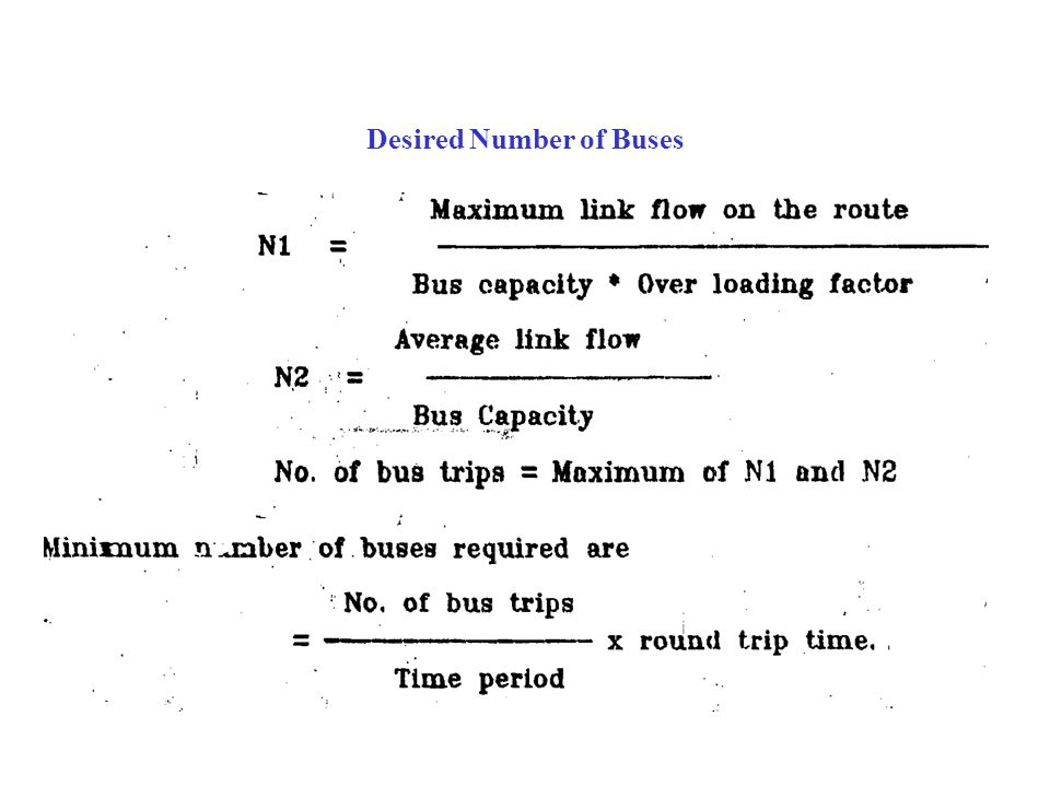 Desired Number of Buses