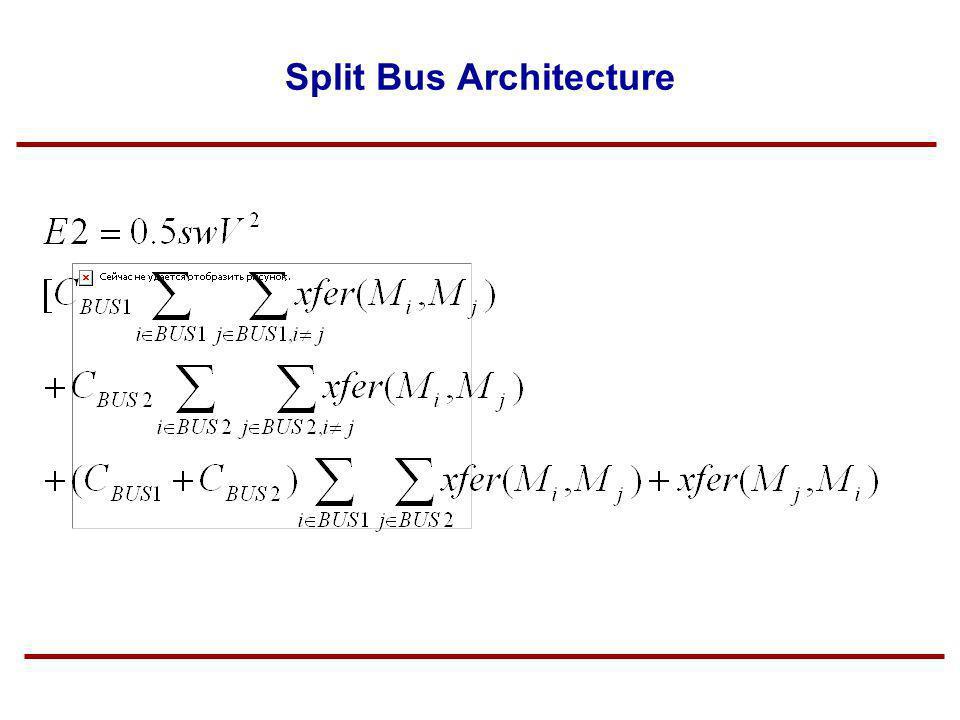 Split Bus Architecture