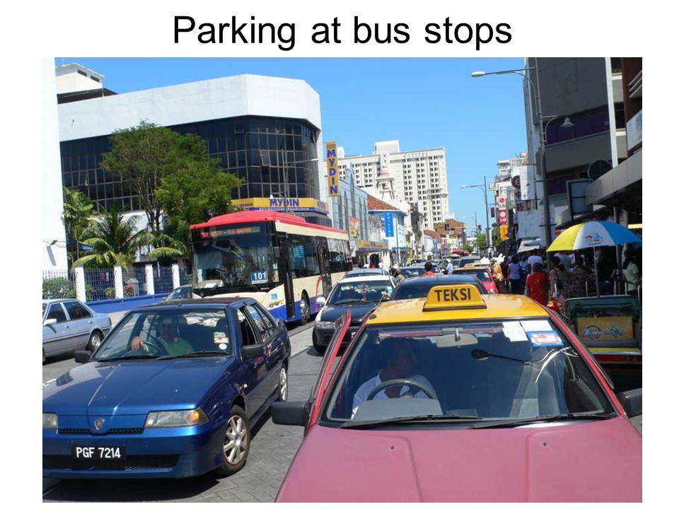 Parking at bus stops