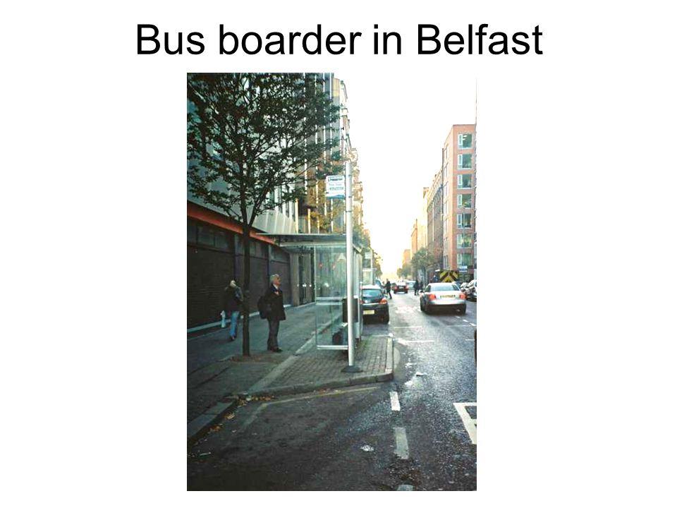 Bus boarder in Belfast