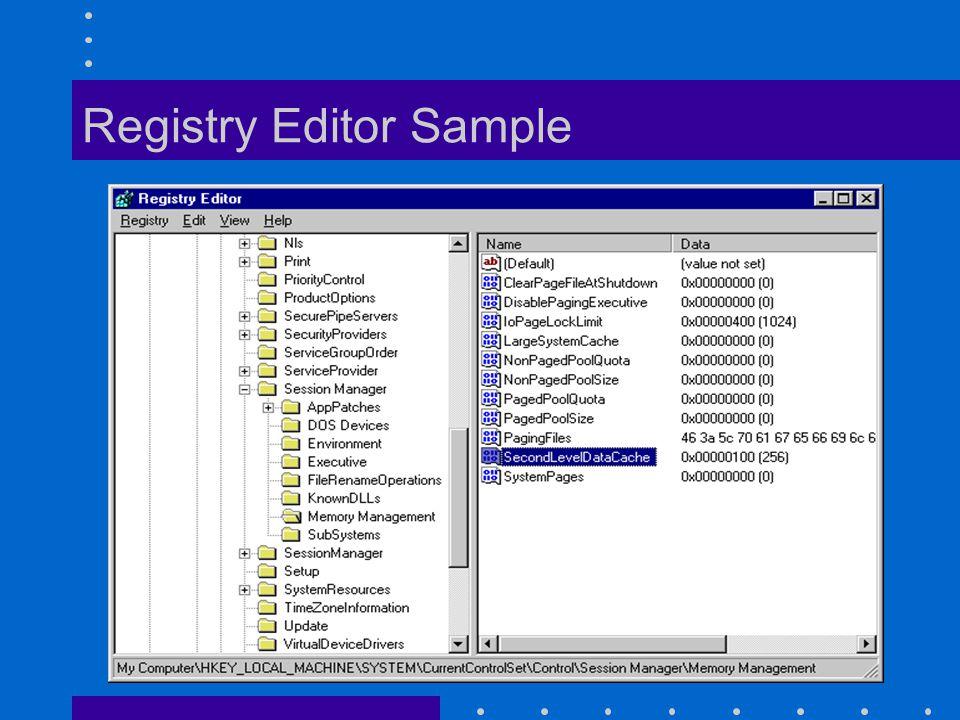 Registry Editor Sample