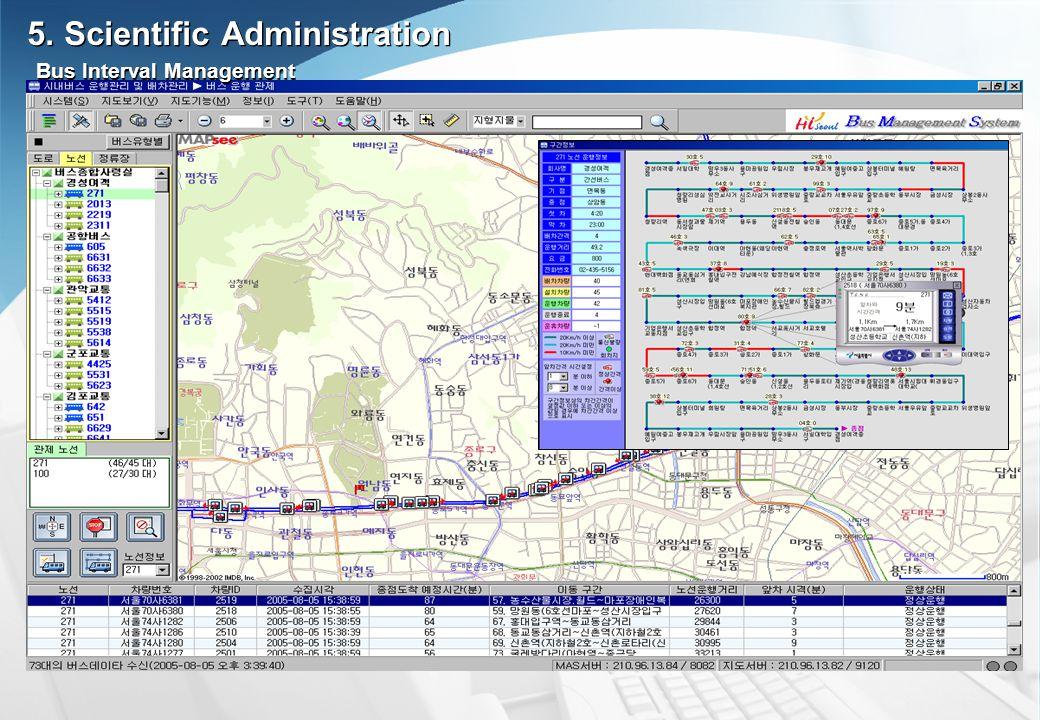 Bus Interval Management 5. Scientific Administration