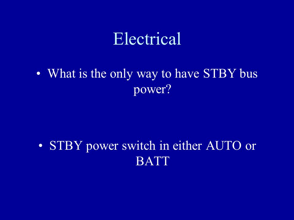 Electrical With no power on the airplane but external power plugged in, can you get power to the ground service bus.