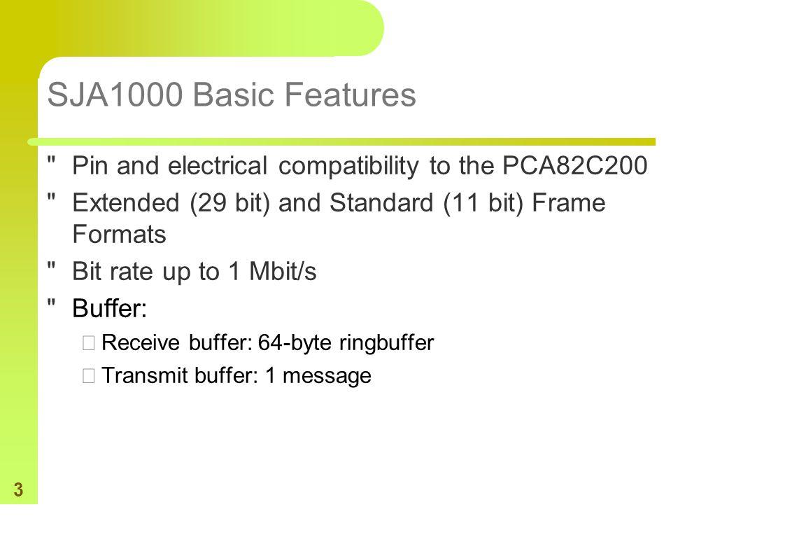 3 SJA1000 Basic Features