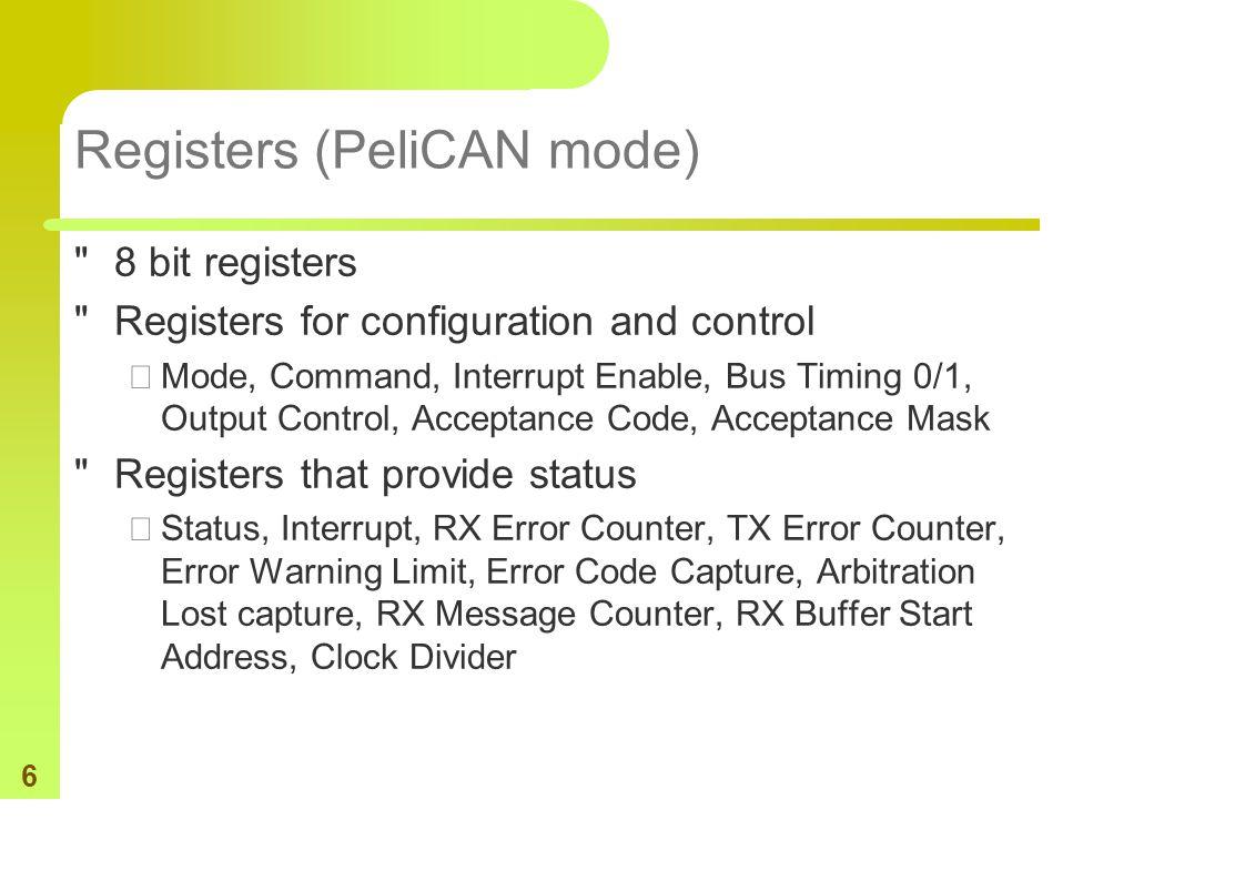 6 Registers (PeliCAN mode)
