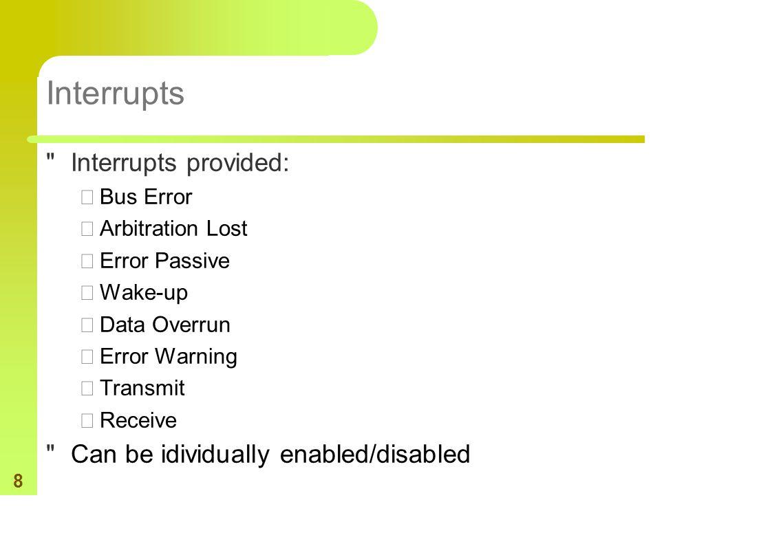 8 Interrupts
