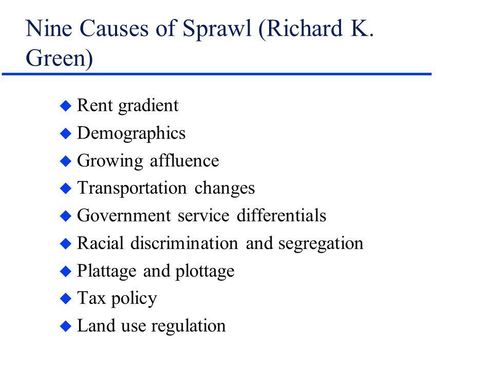 Nine Causes of Sprawl (Richard K.