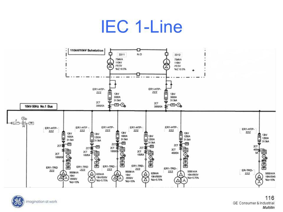 116 GE Consumer & Industrial Multilin IEC 1-Line