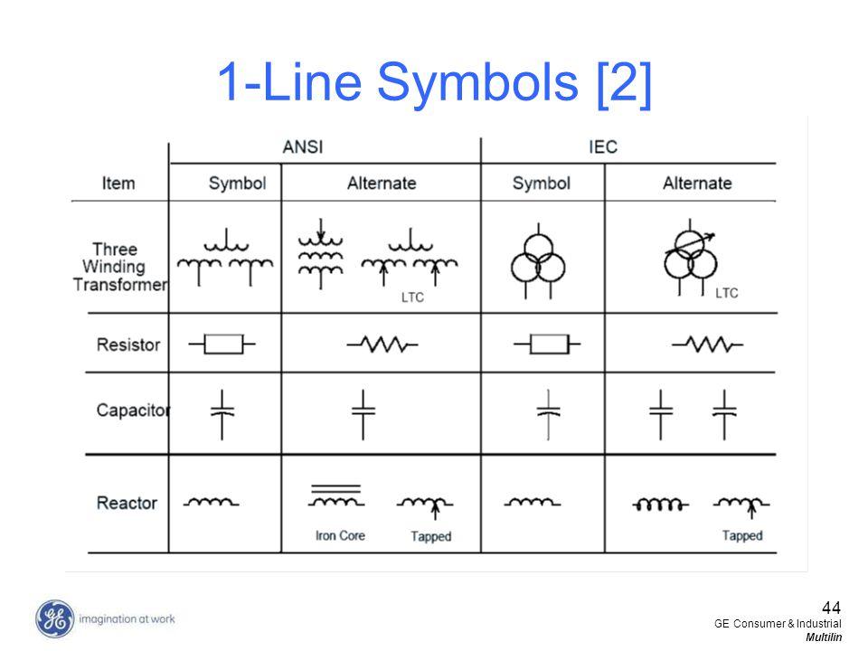 44 GE Consumer & Industrial Multilin 1-Line Symbols [2]