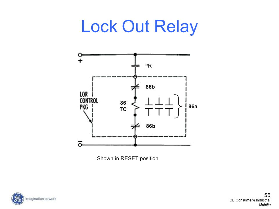 55 GE Consumer & Industrial Multilin Lock Out Relay