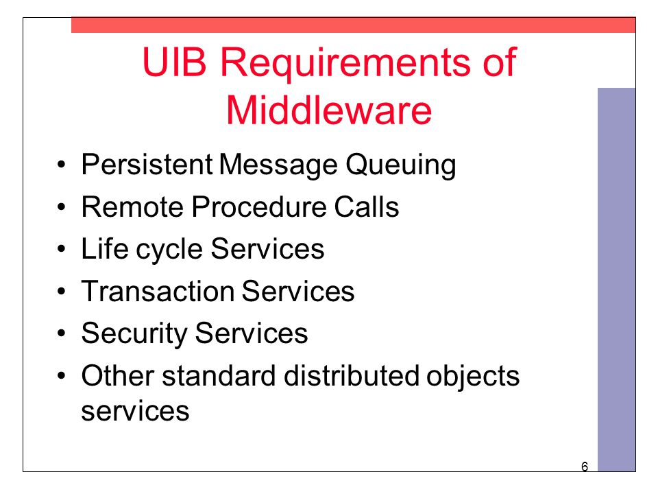 7 Why not just use Middleware? Answer: Utilities need more!