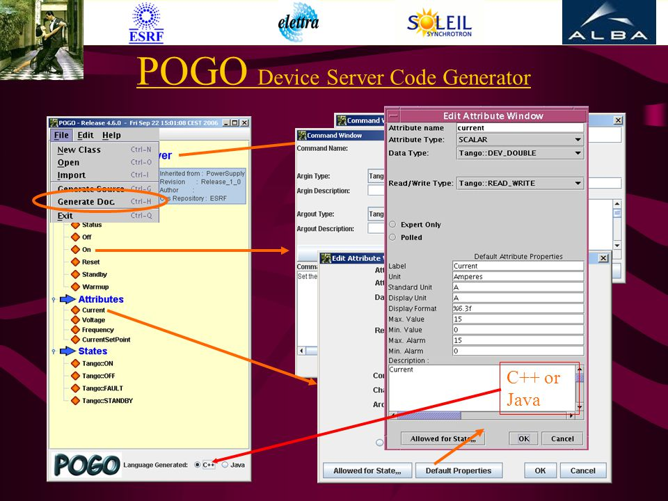 POGO Device Server Code Generator C++ or Java