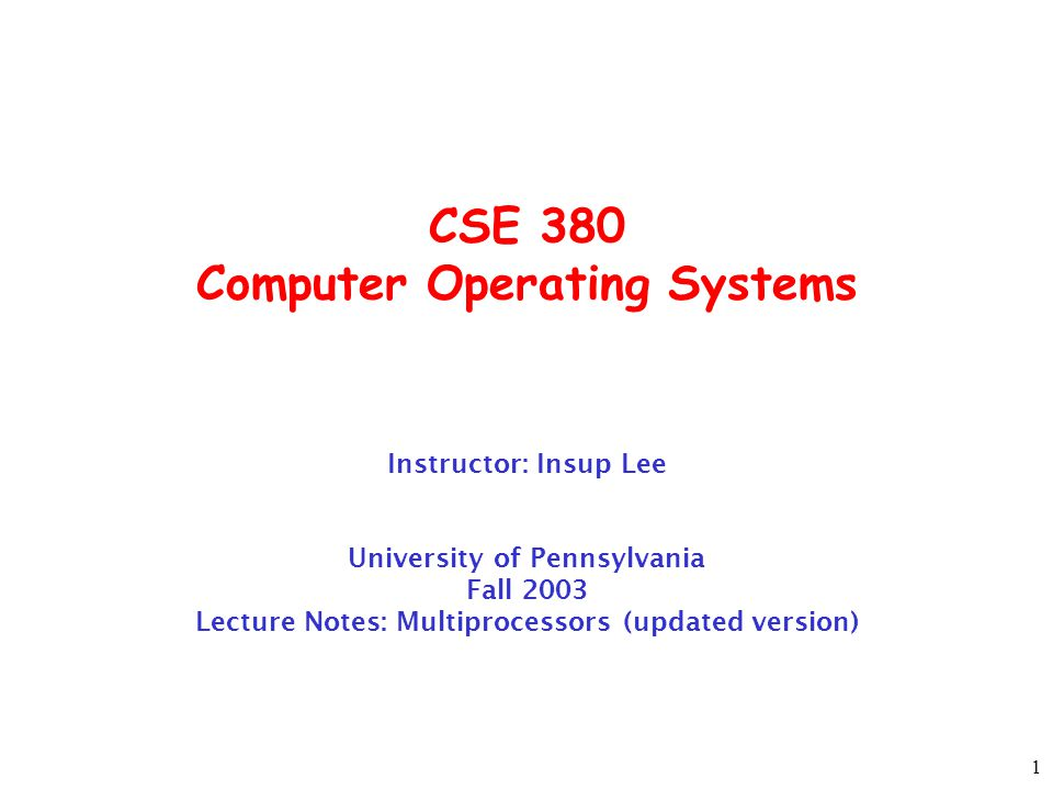 2 Announcement Colloq by Dennis Ritchie UNIX and Beyond: Themes of Operating Systems Research at Bell Labs, 4:30 pm, Wednesday, November 12 Wu-Chen Auditorium Written Assignment will be post later today