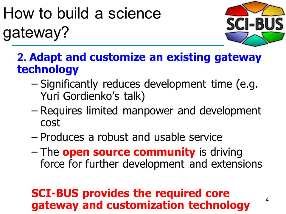 4 How to build a science gateway. 2.