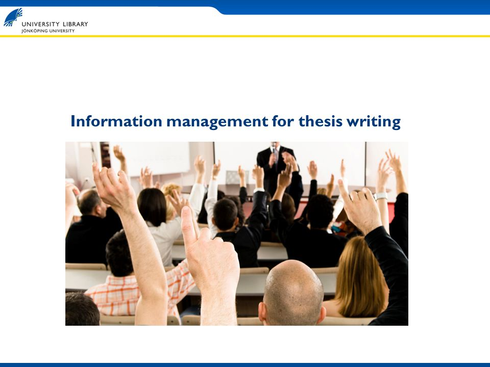 Information management for thesis writing