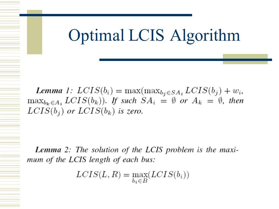 Optimal LCIS Algorithm