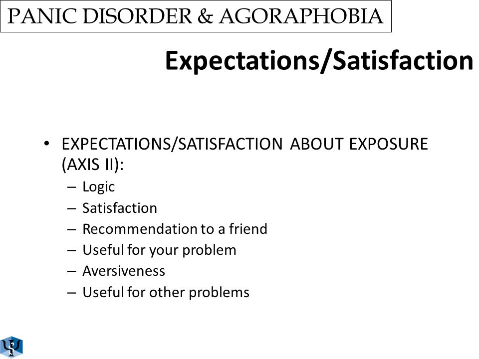 Diagnosis SCREENING INTERVIEW ADIS-IV (PANIC/AGORAPHOBIA) INDEPENDENT ASSESOR EXCLUSION CRITERIA – ALCOHOL/DRUG ABUSE – PSYCHOSIS – SEVERE PHYSICAL IL