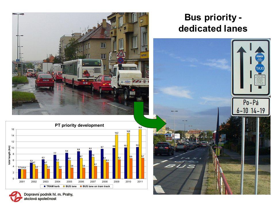 Bus priority - dedicated lanes