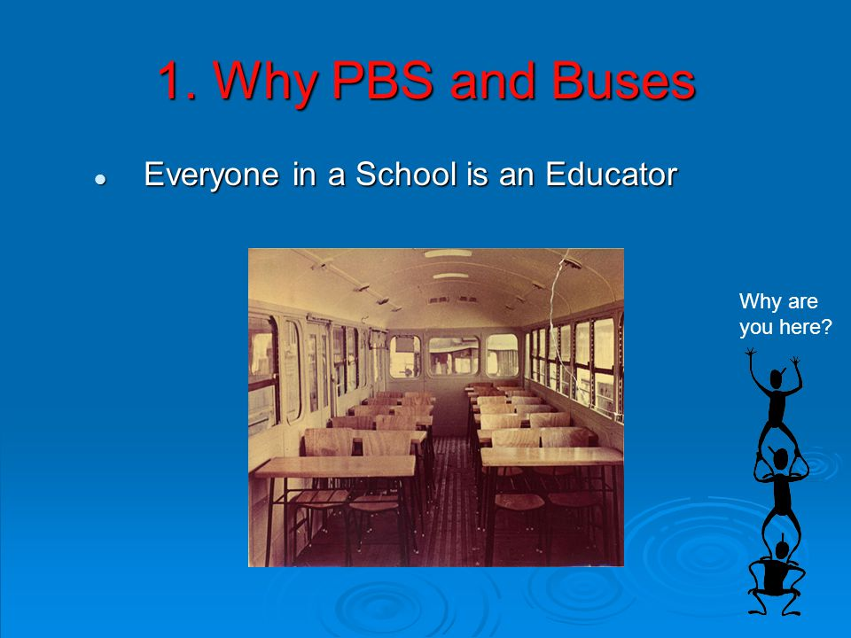 1. Why PBS and Buses Everyone in a School is an Educator Everyone in a School is an Educator Why are you here?