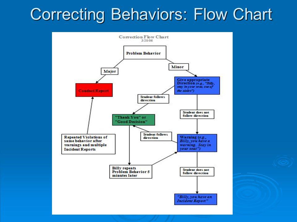 Correcting Behaviors: Flow Chart
