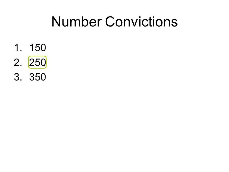 Number Convictions 1.150 2.250 3.350