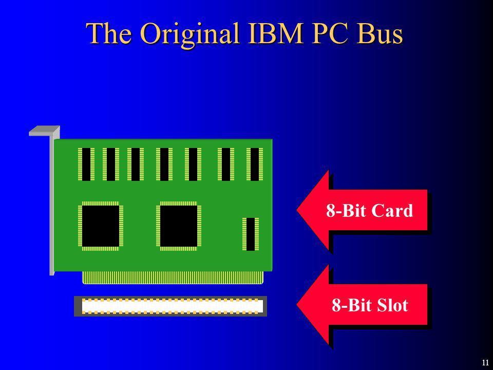 11 8-Bit Card 8-Bit Slot The Original IBM PC Bus