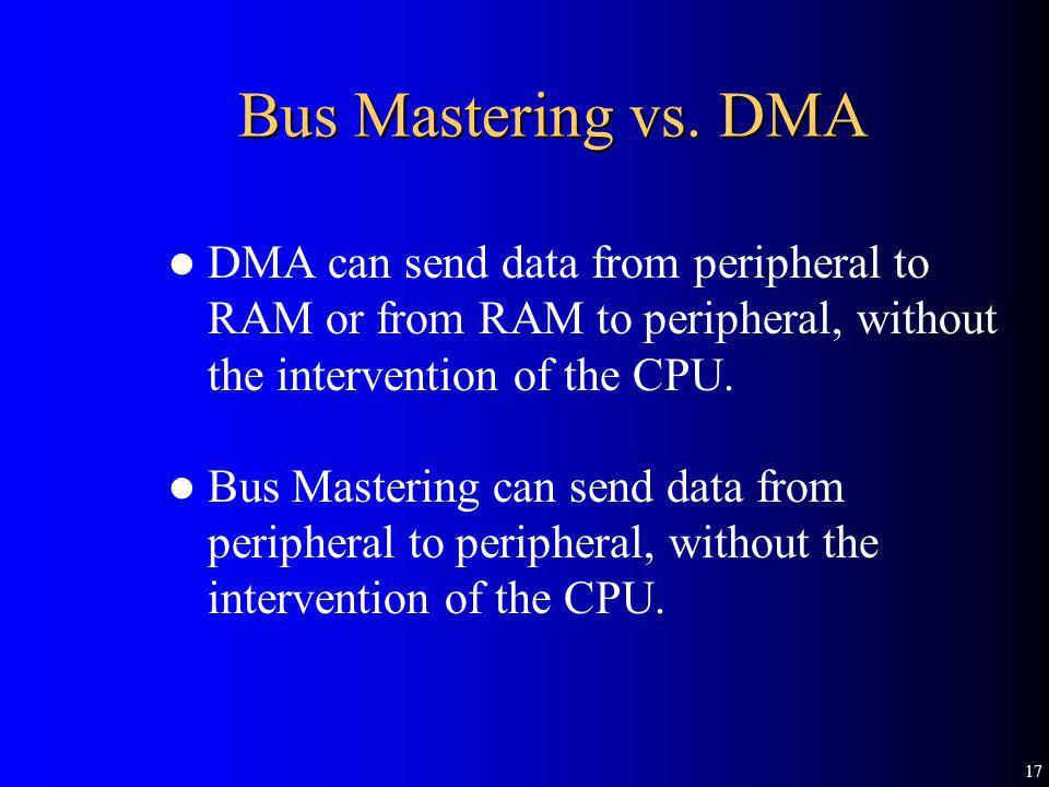 17 Bus Mastering vs.