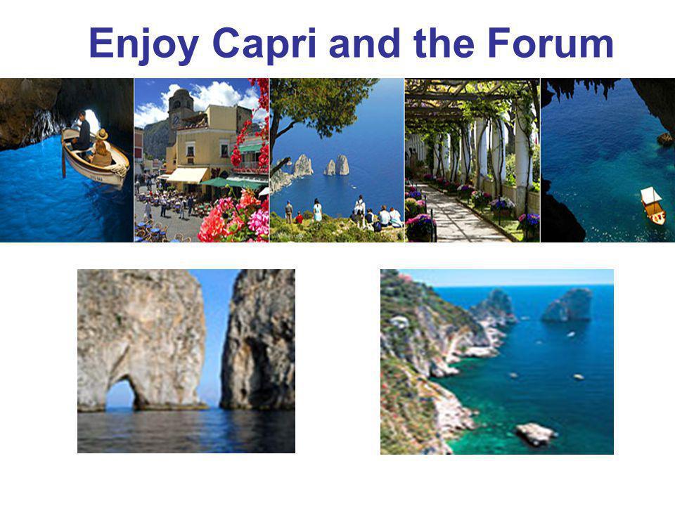 Enjoy Capri and the Forum