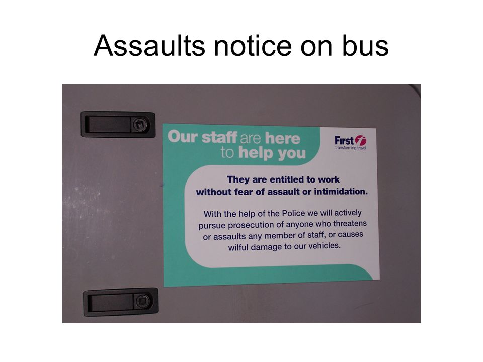 Assaults notice on bus