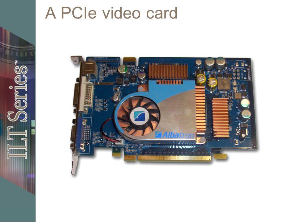 A PCIe video card