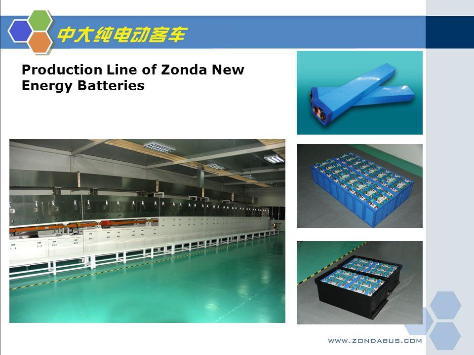 Production Line of Zonda New Energy Batteries