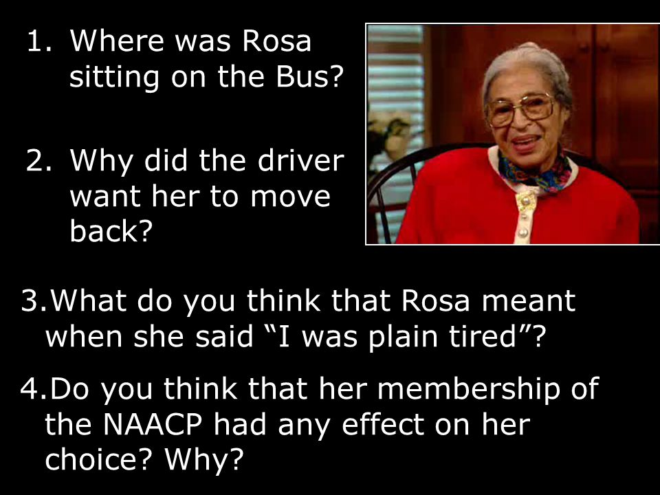 Rosa Parks She had previously been left behind by the same bus driver.
