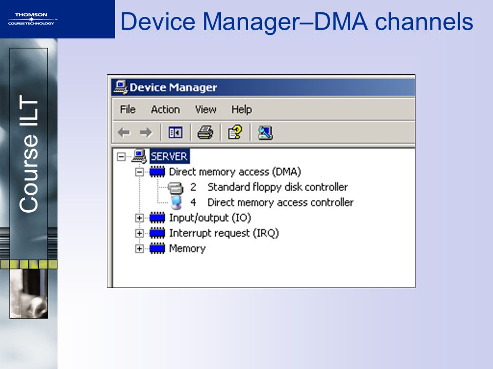 Course ILT Device Manager–DMA channels