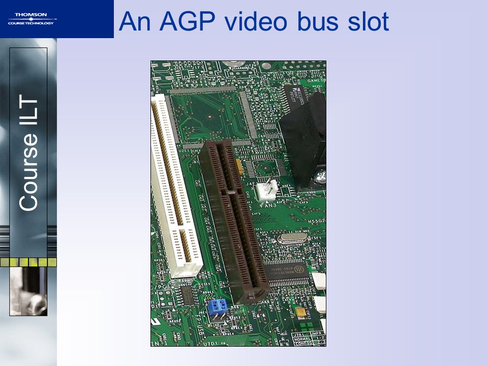 Course ILT An AGP video bus slot