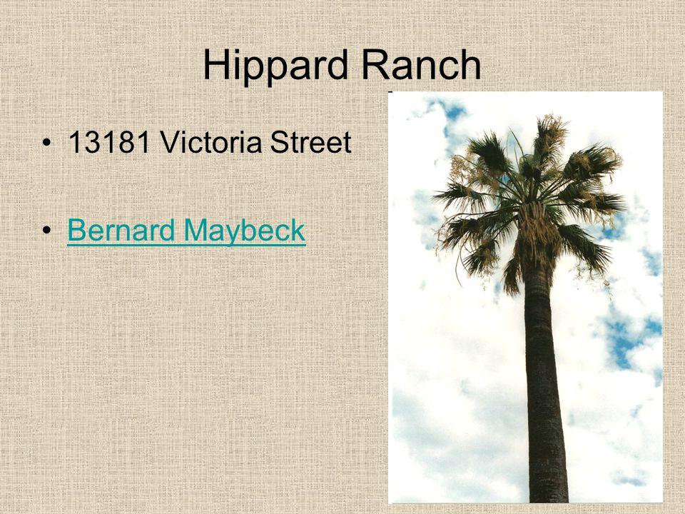 Hippard Ranch 13181 Victoria Street Bernard Maybeck