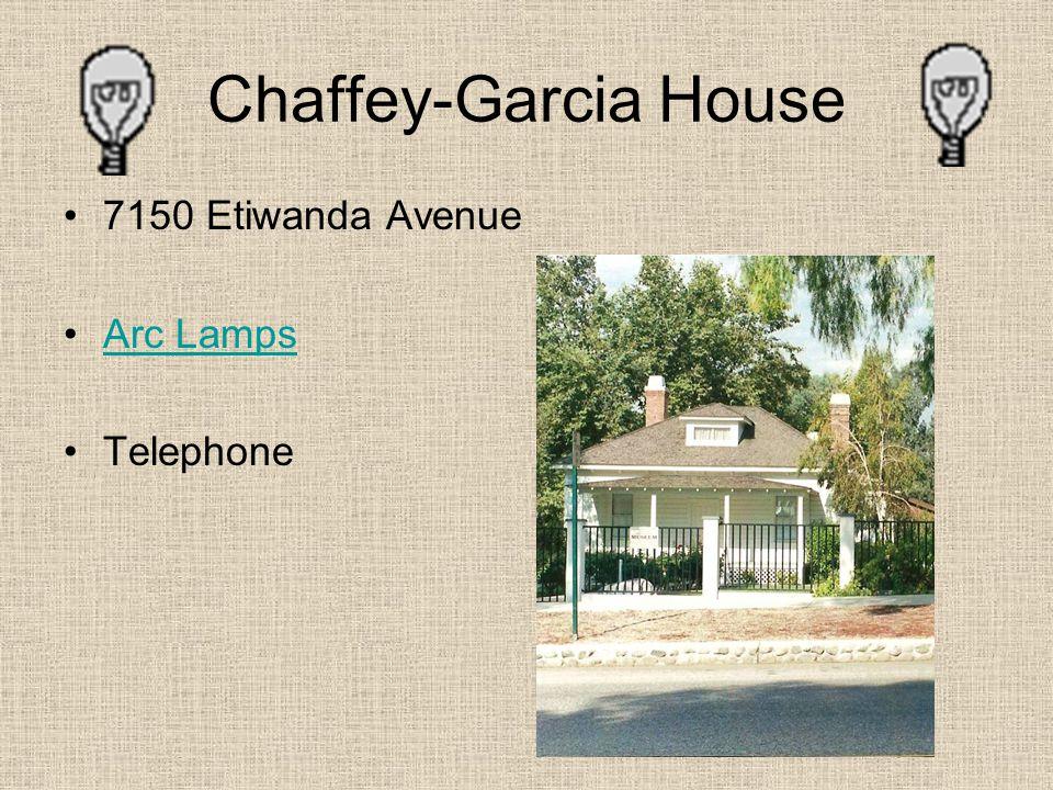 Chaffey-Garcia House 7150 Etiwanda Avenue Arc Lamps Telephone