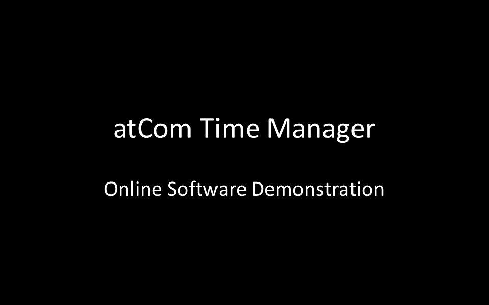 atCom Time Manager Online Software Demonstration