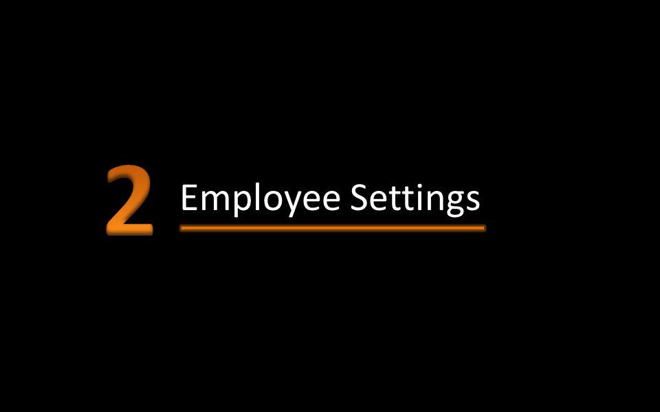 Employee Settings