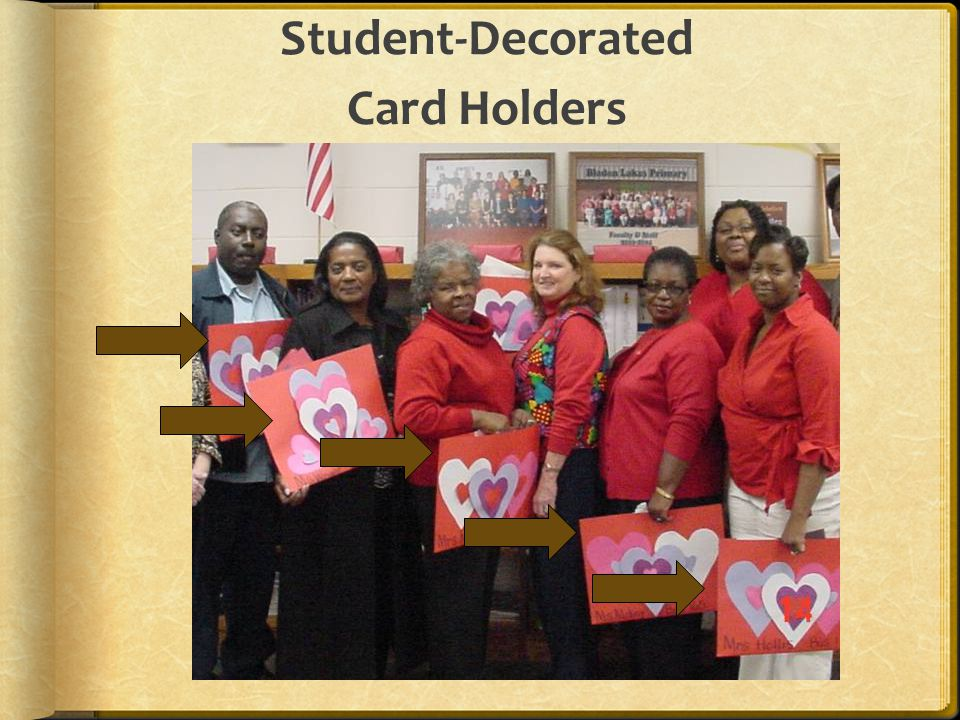 Student-Decorated Card Holders