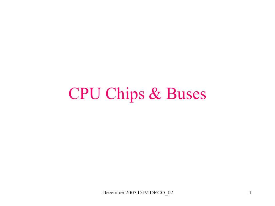 December 2003 DJM DECO_021 CPU Chips & Buses
