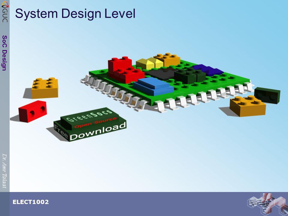 Dr. Amr Talaat ELECT1002 SoC Design System Design Level