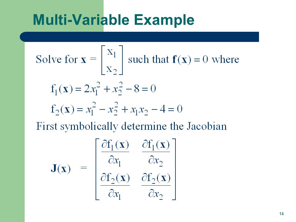 14 Multi-Variable Example