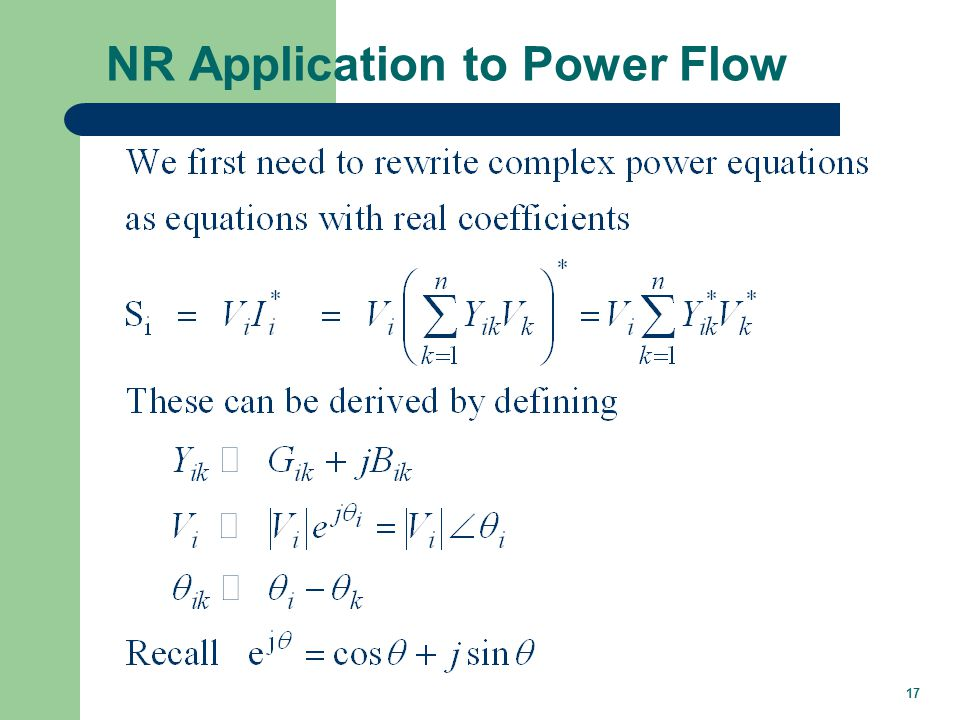 17 NR Application to Power Flow
