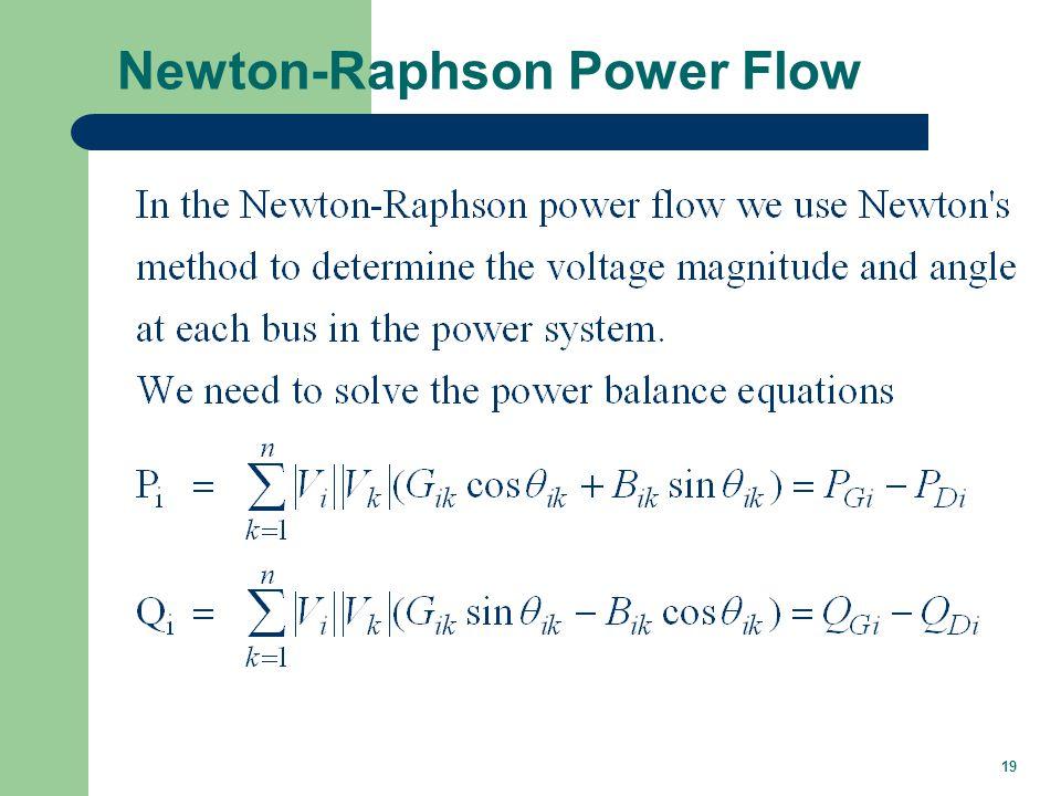 19 Newton-Raphson Power Flow