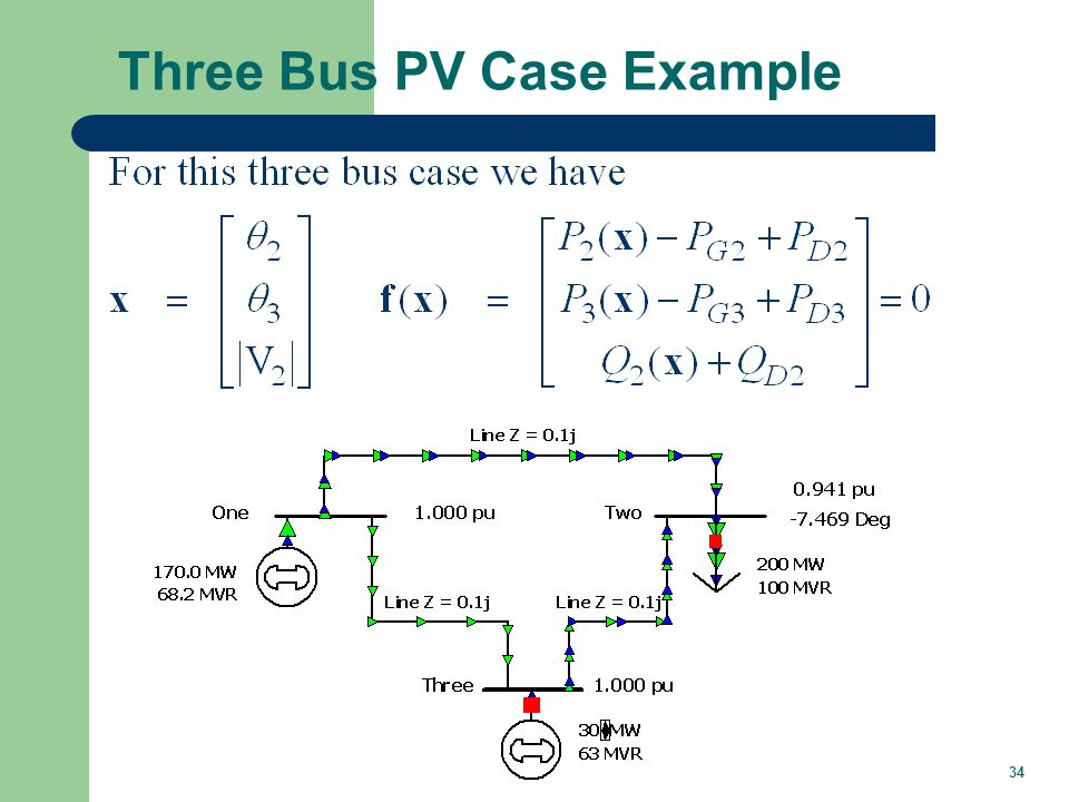 34 Three Bus PV Case Example